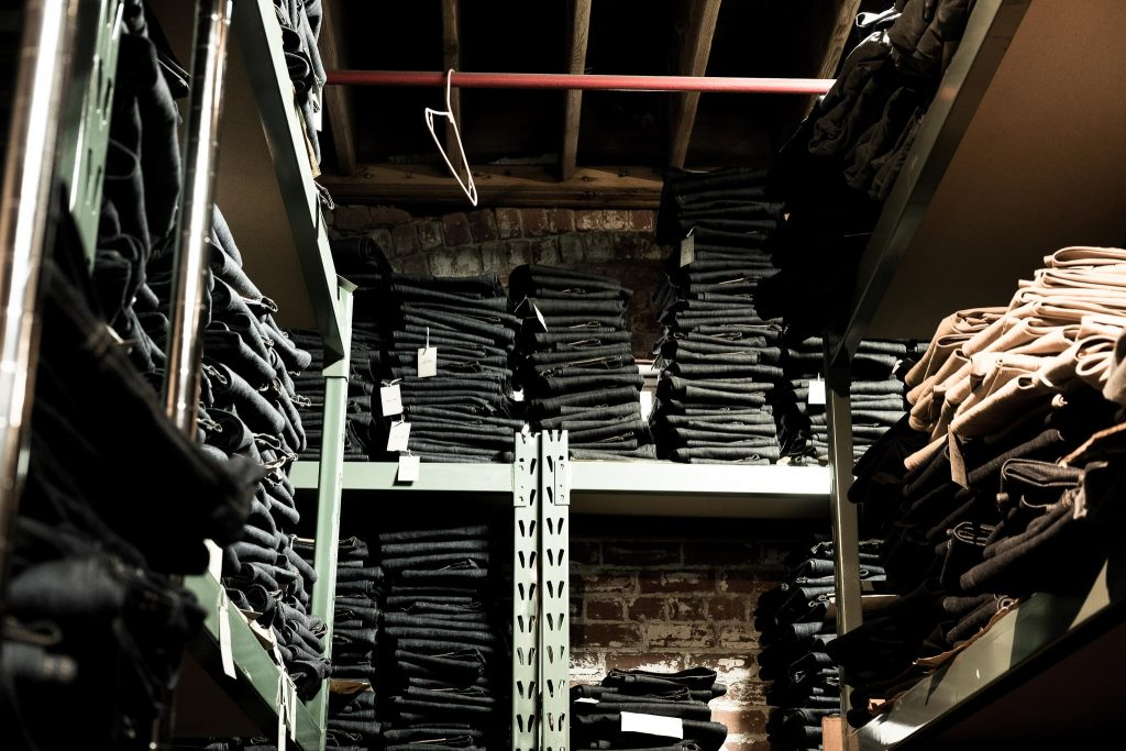 3sixteen L.A. warehouse full of denim