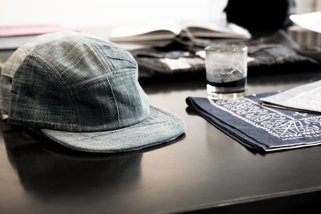 3sixteen Indigo Blanket 5-panel cap Raggedy Threads NYC