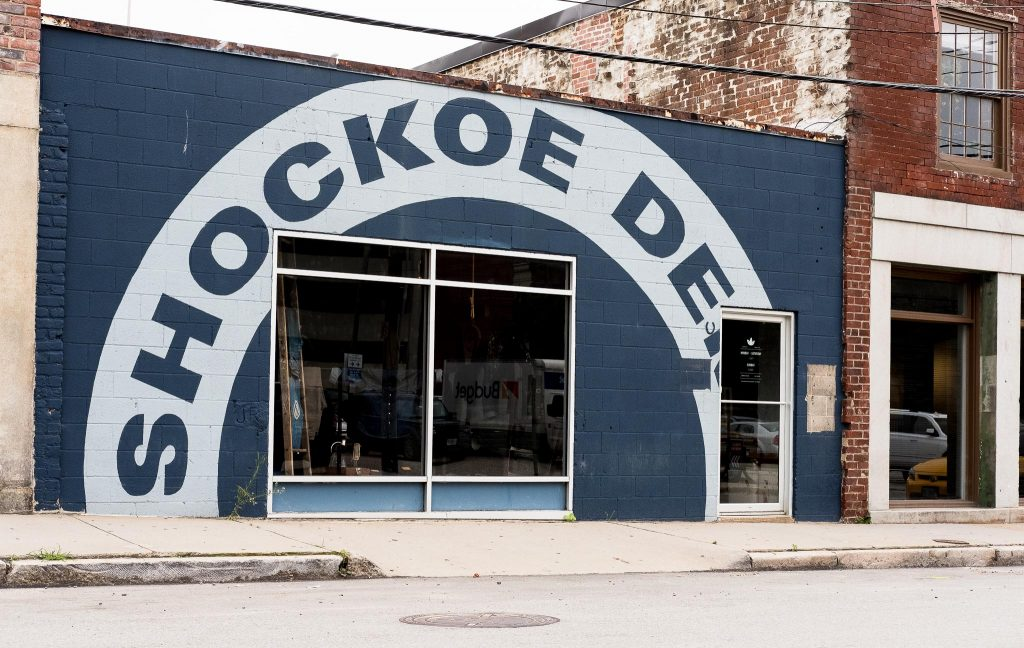 Shockoe Atelier store front and factory in Richmond, Virginia.