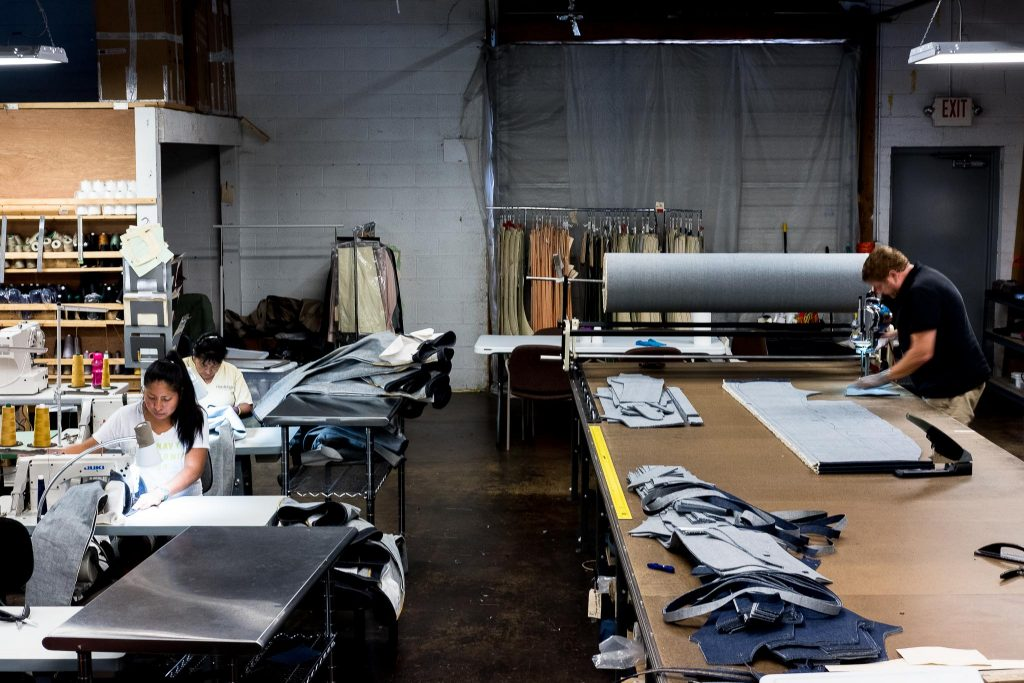Shockoe Atelier factory in Richmond, Virginia.
