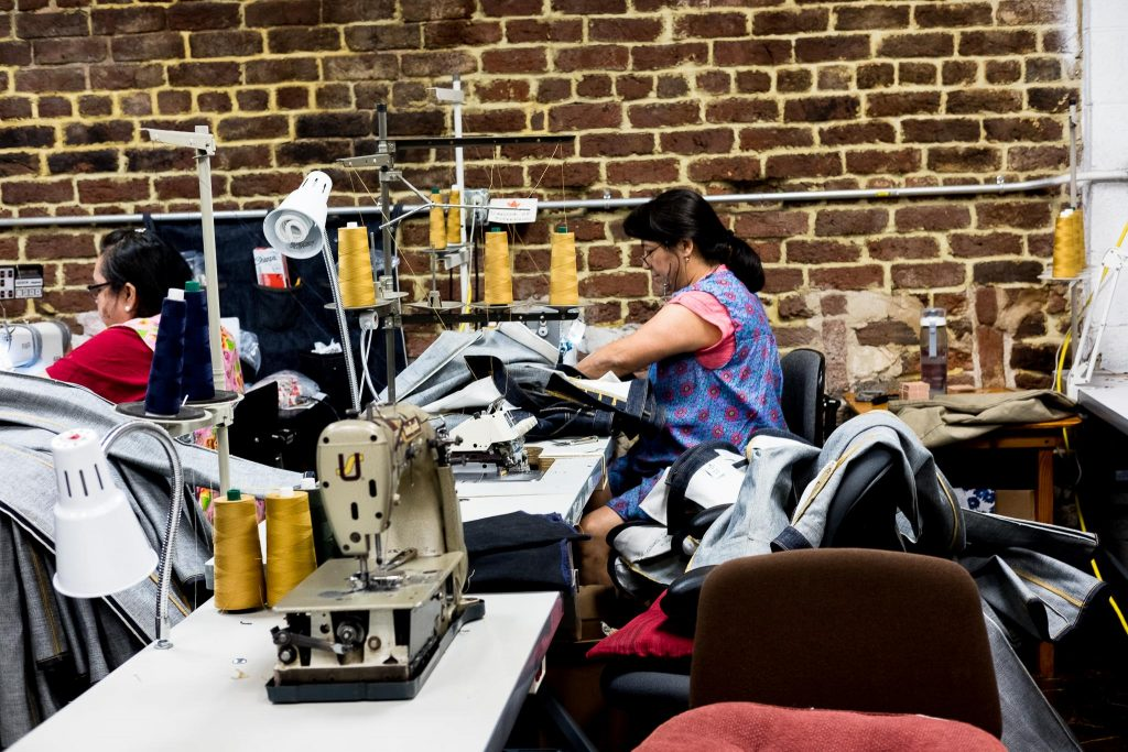 Shockoe Atelier sewing area.