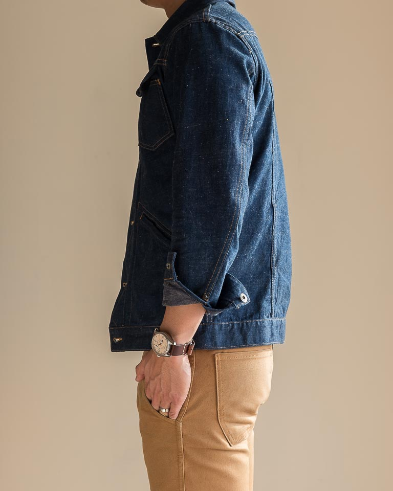 3sixteen Indigo Nep Ranch Jacket Fit Side