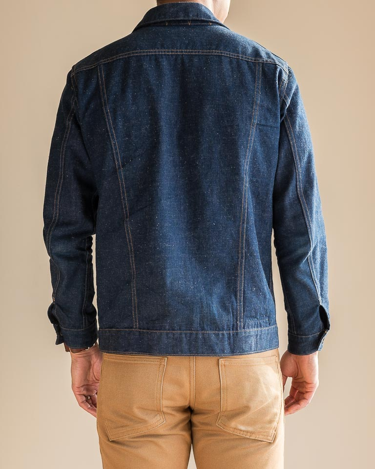 3sixteen Indigo Nep Ranch Jacket Fit Back