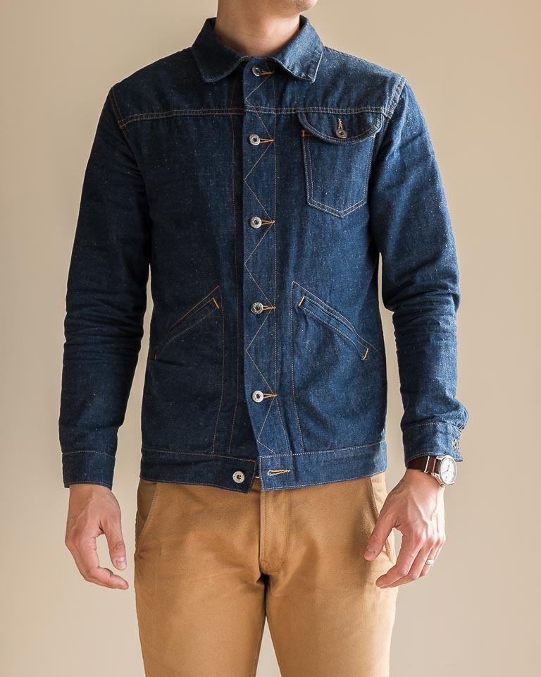 3sixteen Indigo Nep Ranch Jacket Fit Front