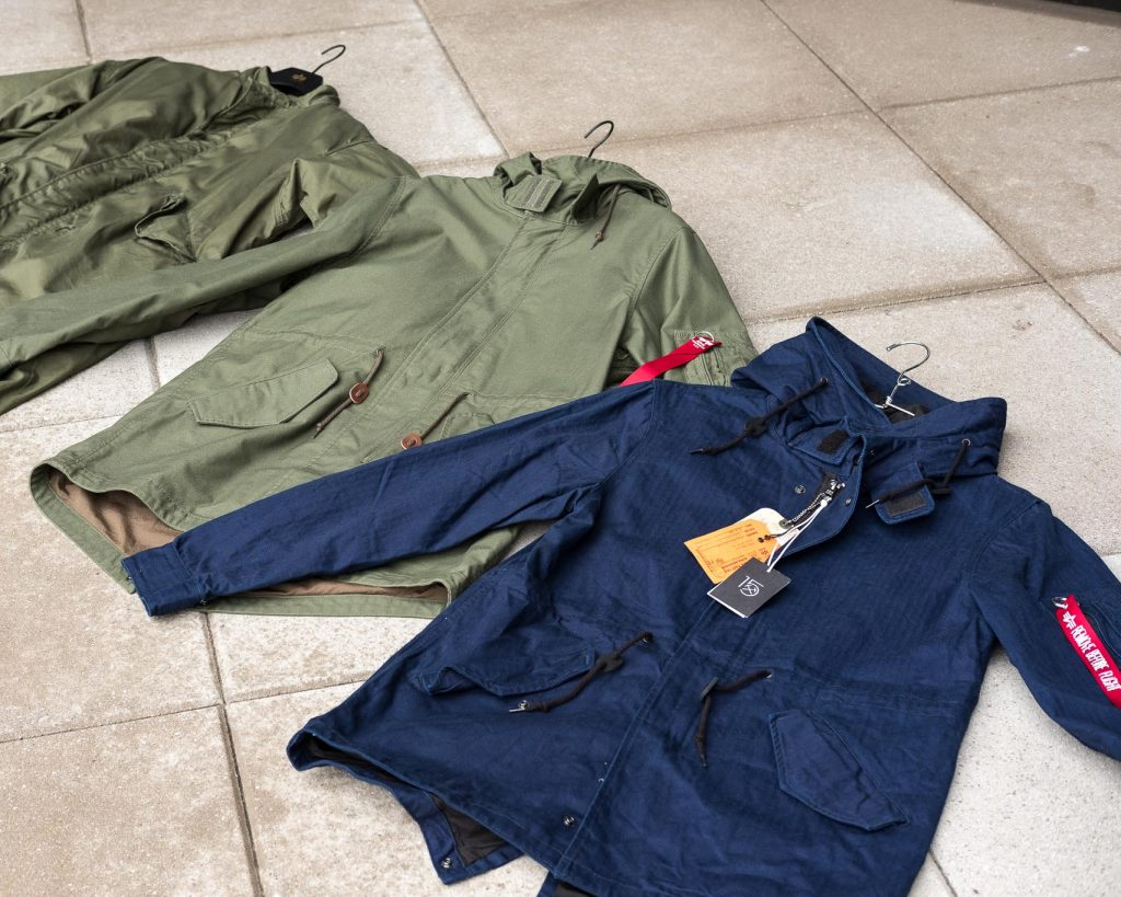 Alpha Industries M-59 Fishtail Parkas and the 3sixteen collaboration