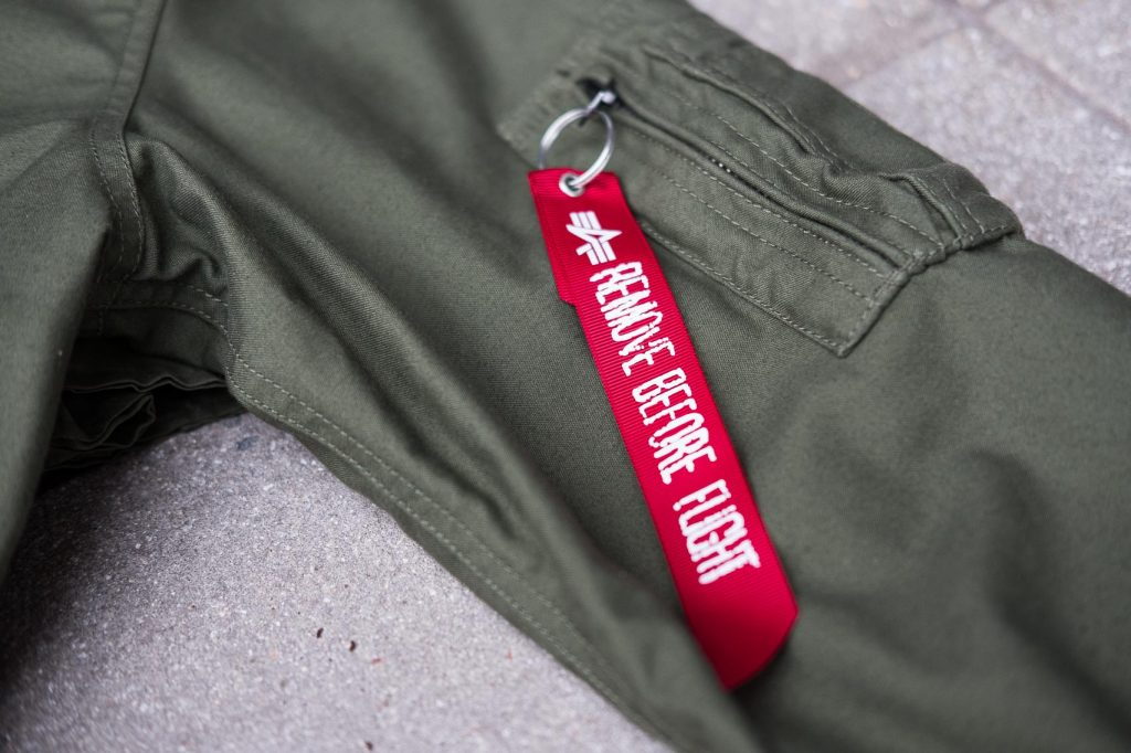 Alpha Industries M-59 Fishtail Parka - Remove Before Flight Tag