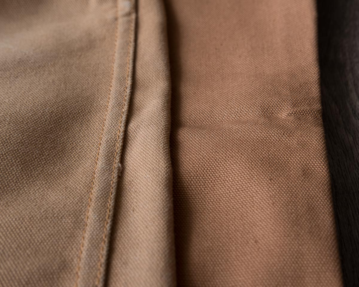 Railcar Fine Goods Camel Flight Trousers Side-by-Side Comparison