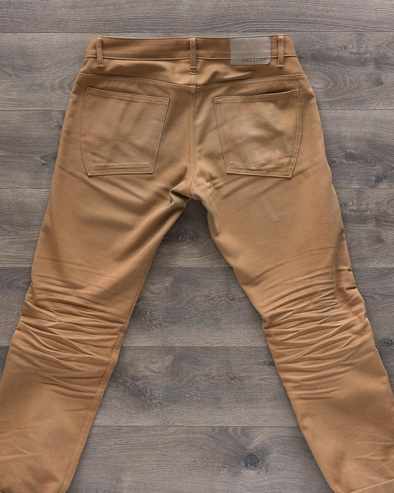 Railcar Fine Goods Camel Flight Trousers Back