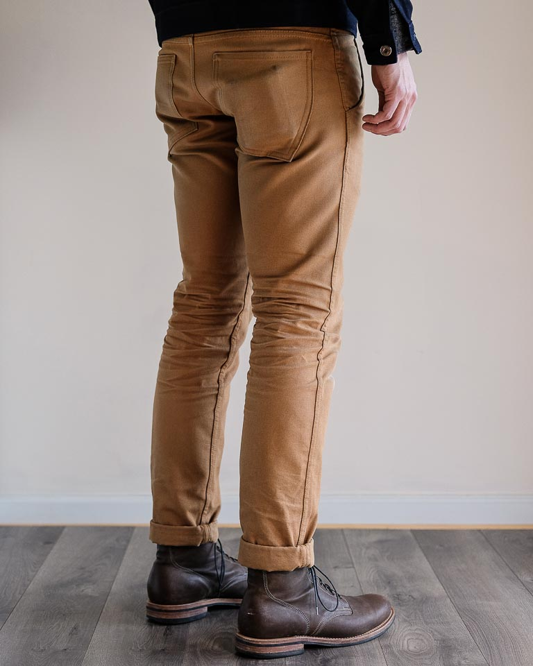 Railcar Fine Goods Camel Flight Trousers Fit Picture