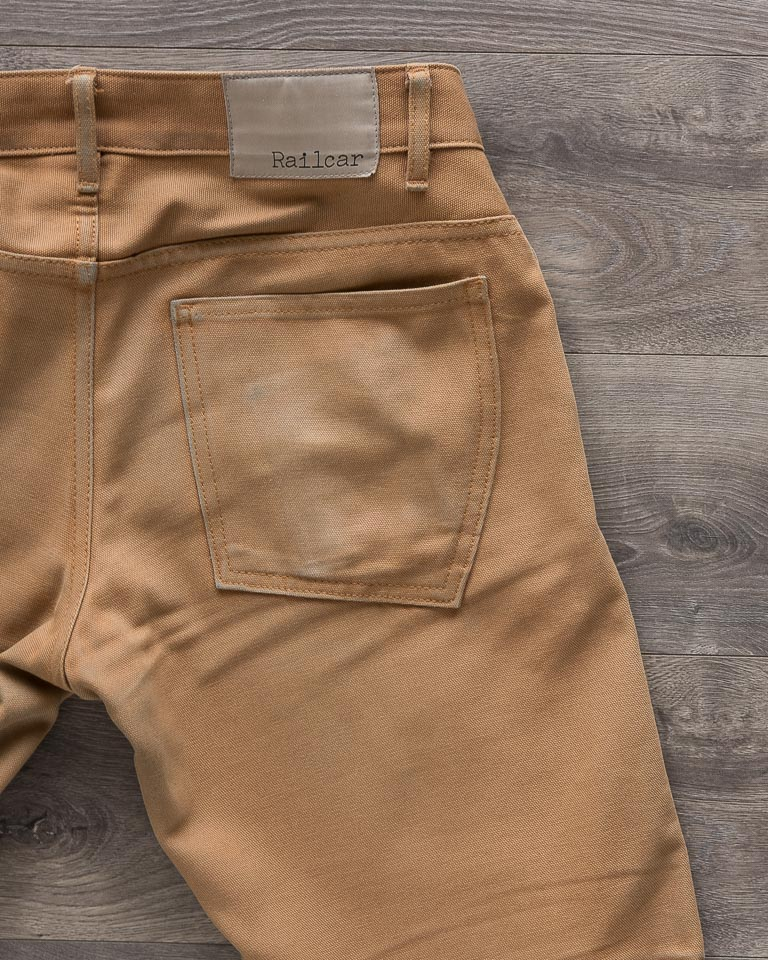 Railcar Fine Goods Camel Flight Trousers Back Patch