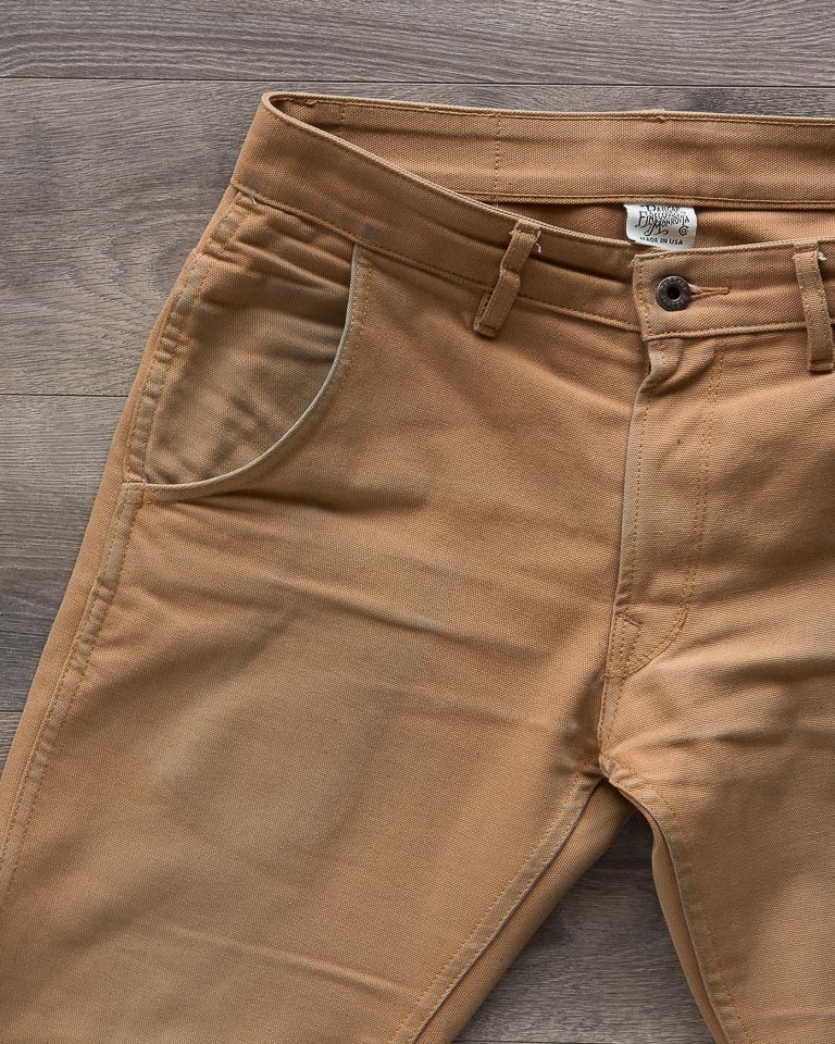 Railcar Fine Goods Camel Flight Trousers Front Pocket