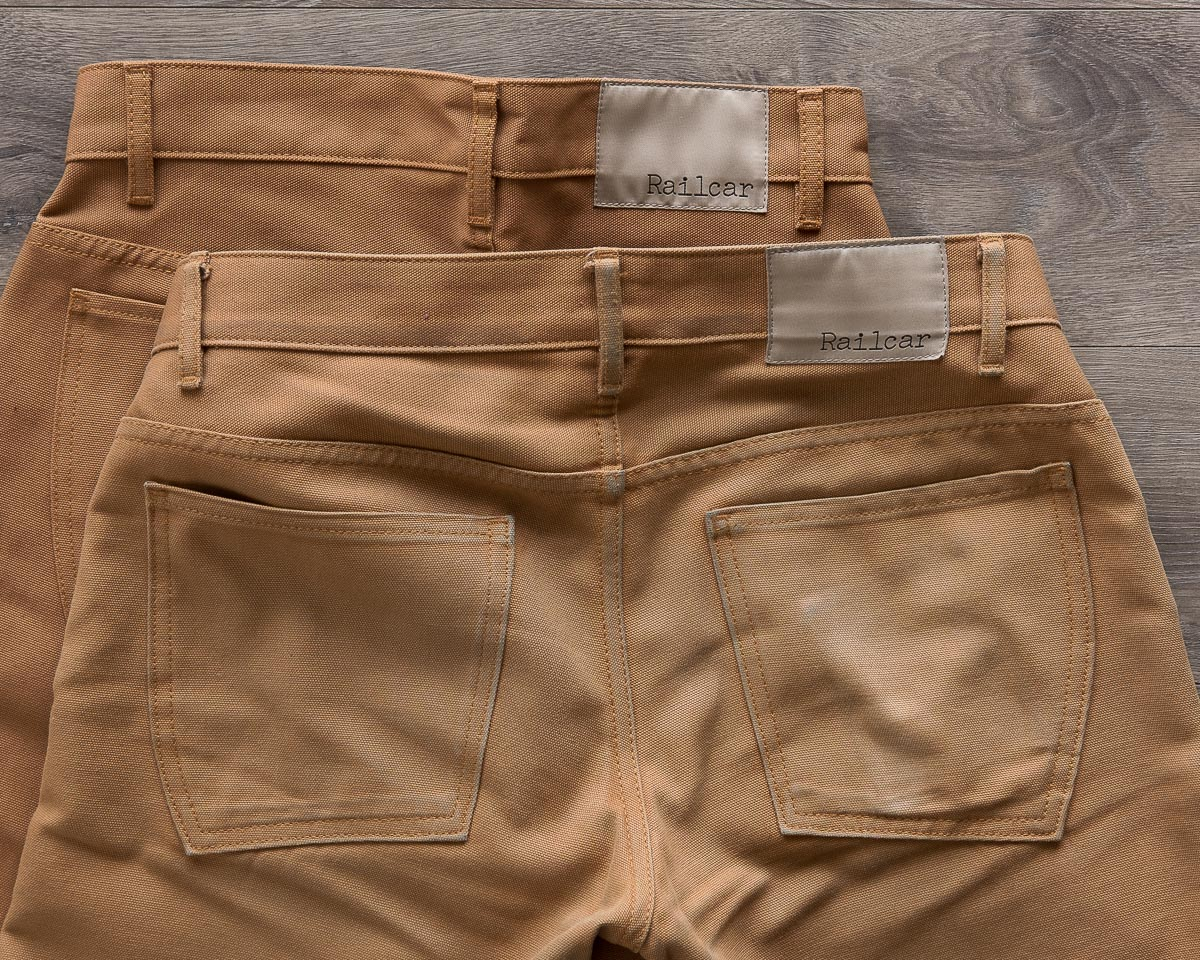 Railcar Fine Goods Camel Flight Trousers Old And New Comparison