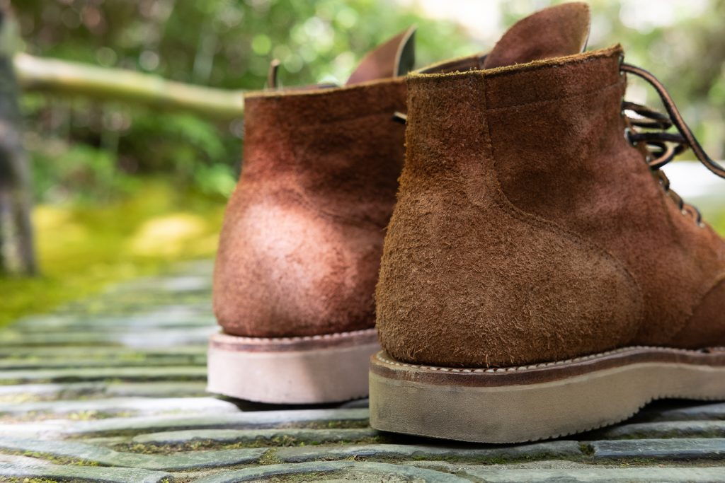 Viberg for Withered Fig Aged Bark Roughout in 1035 Last - 2060 Sand Sole - Brown Oil Tan Contrast Tongue