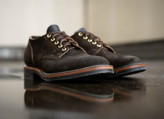 Viberg for Withered Fig 145 Oxford Mushrom Chamois Roughout Dr Sole Raw Cord Sole and 1035 Last