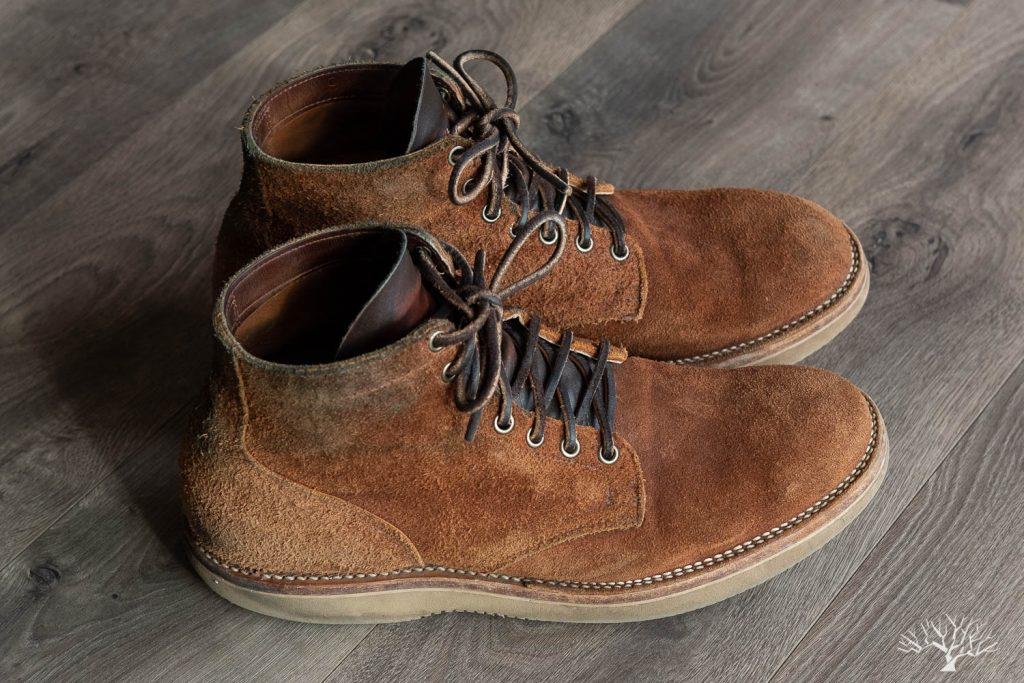 Viberg for Withered Fig Aged Bark Roughout Service Boot 'Marvington'