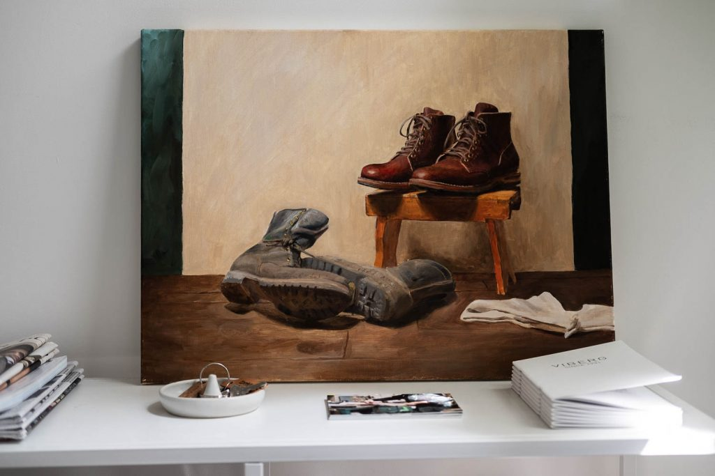 Viberg Brand Spotlight Interview - Office Space Boot Painting