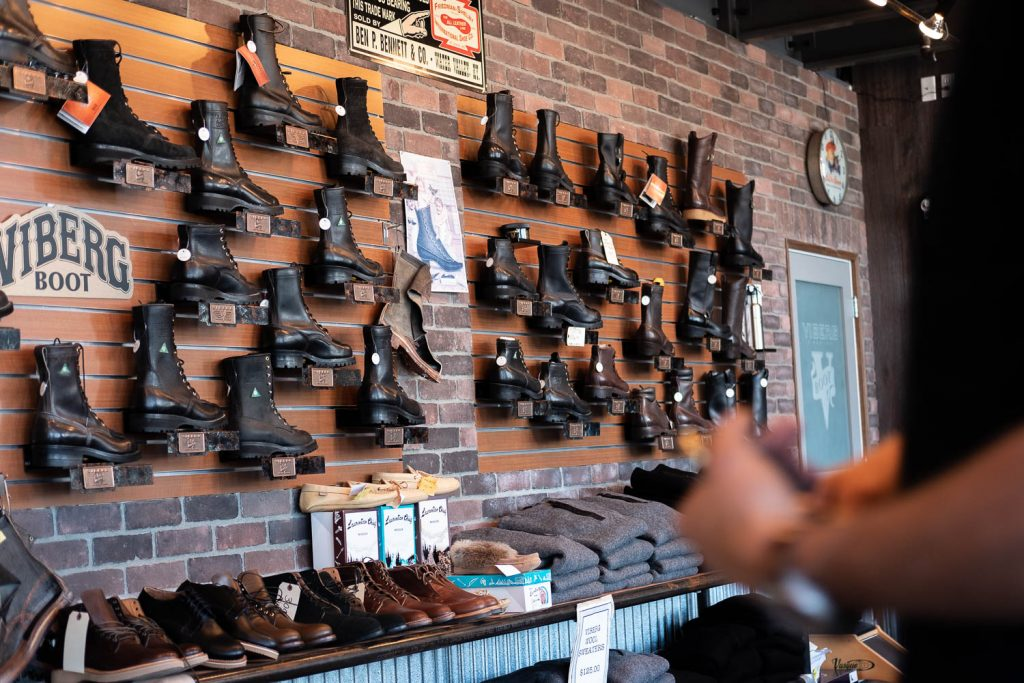 Viberg Brand Spotlight Interview - Retail Store Front at Factory