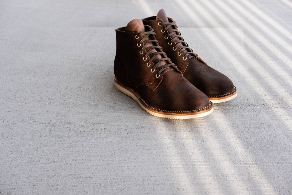 Viberg Boot Interview Tobacco Chamois Roughout Service Boot Mini Ripple