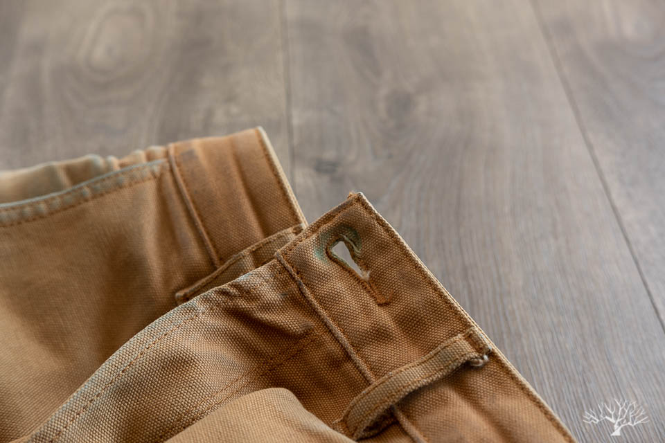 Railcar Fine Goods Camel Flight Trousers Indigo Crocking and Wear