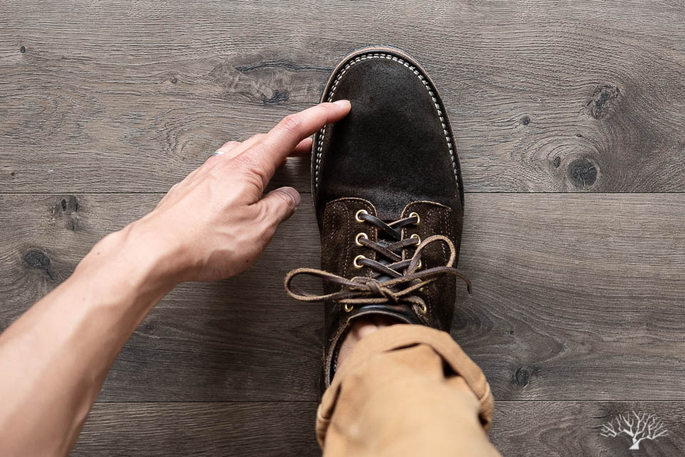 viberg 145 oxford sizing mushroom chamois roughout