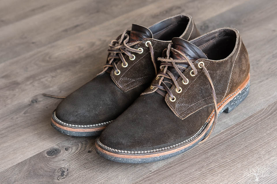 viberg mushroom chamois 145 oxford review by withered fig
