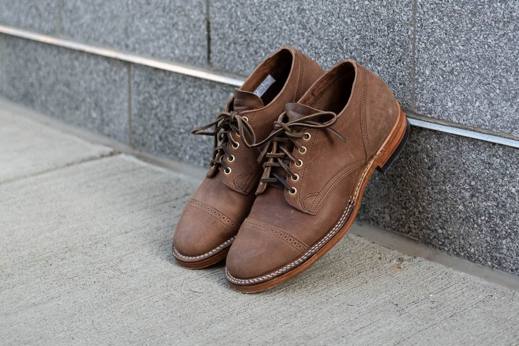 "Viberg for Withered Fig Crust Horsebutt ""Franklin"" 145 Oxfords"