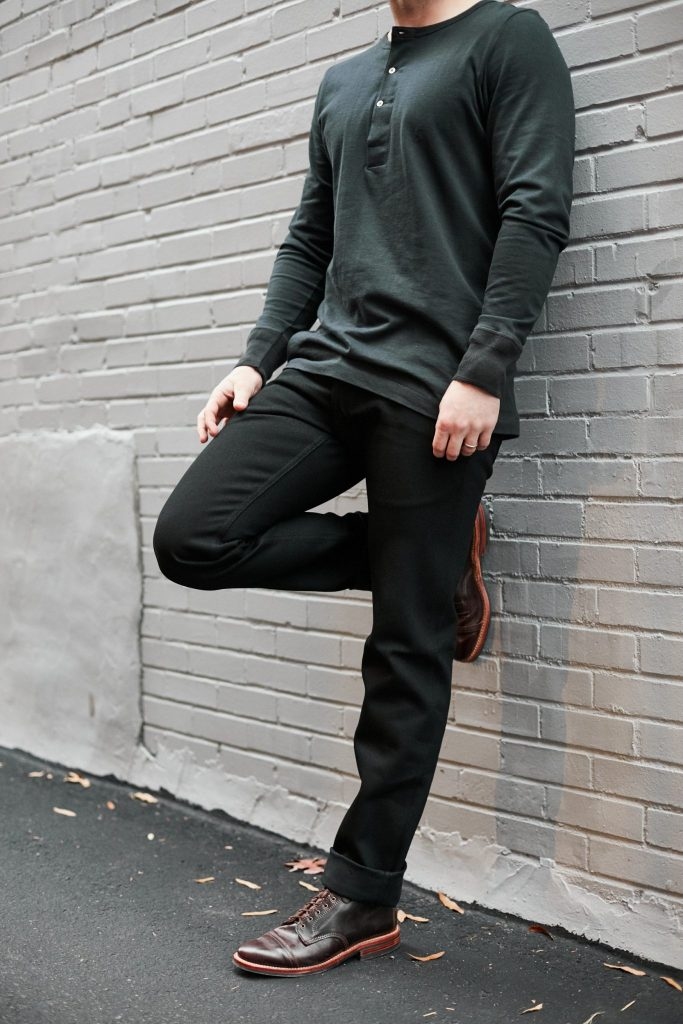 railcar for withered fig flight trousers double black denim