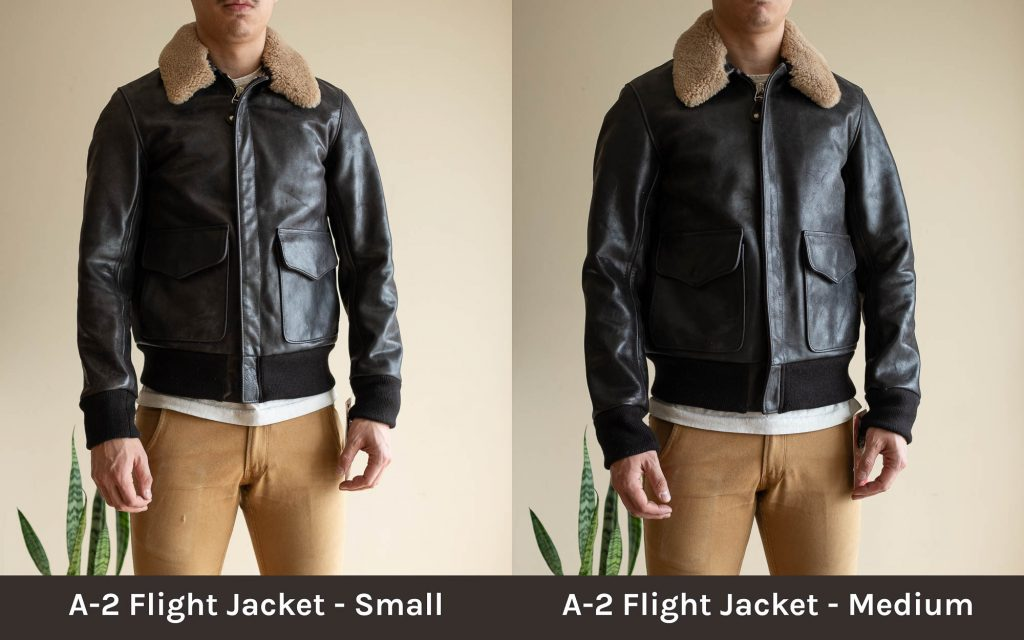 schott for 3sixteen a-2 flight jacket sizing