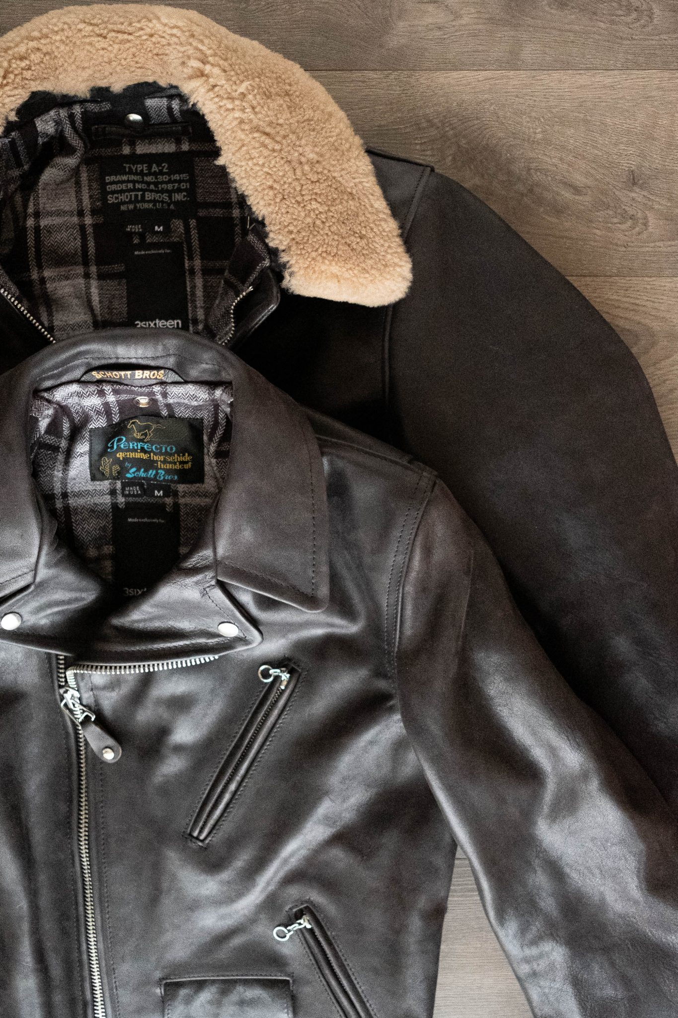 Schott for 3sixteen A-2 Flight Jacket and Perfecto Jacket