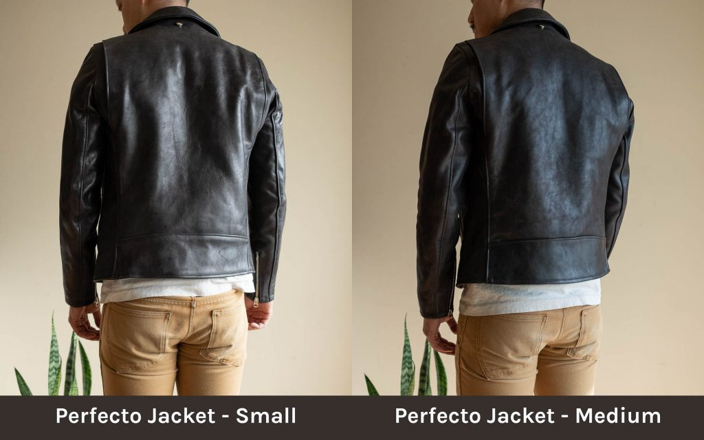 schott for 3sixteen perfecto jacket sizing
