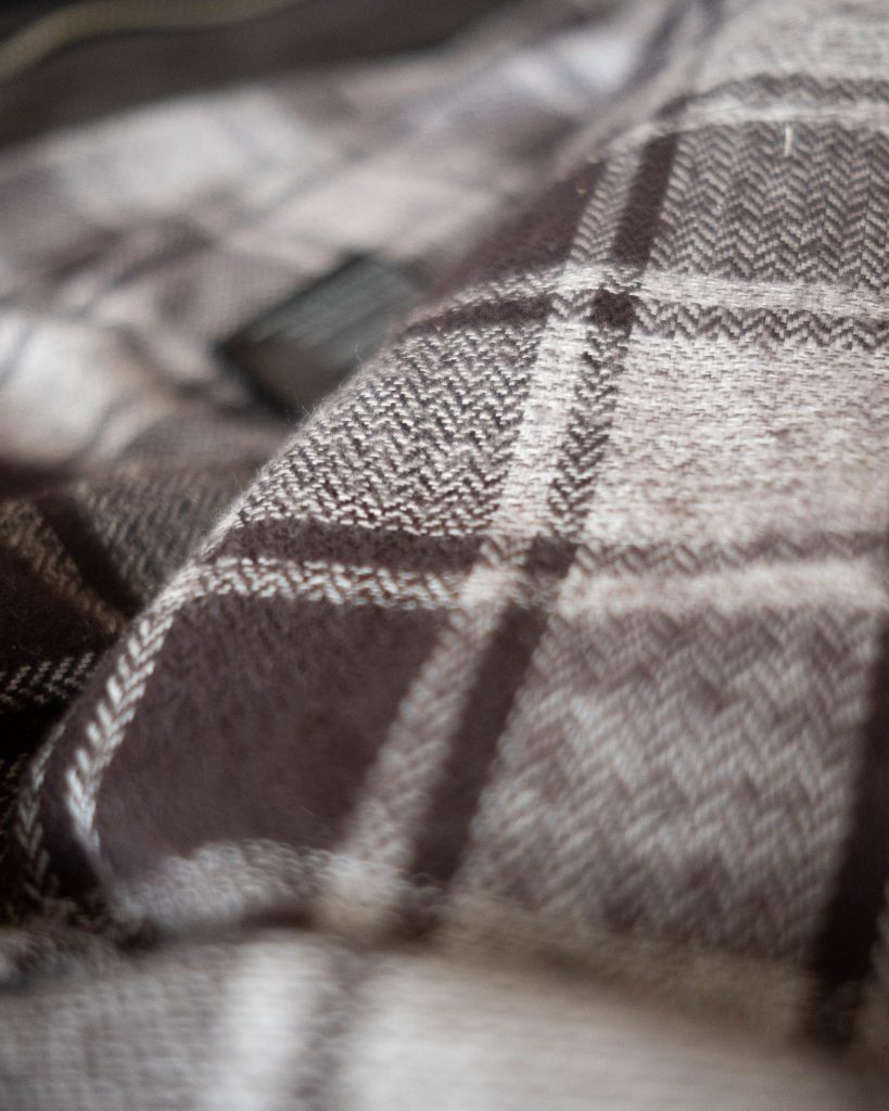 schott for 3sixteen interior japanese brushed flannel