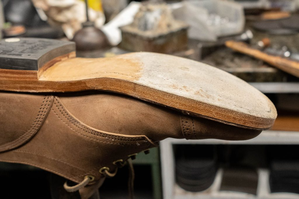 viberg crust horsebutt 145 oxfords at bedo's leatherworks for lulu toe tap install