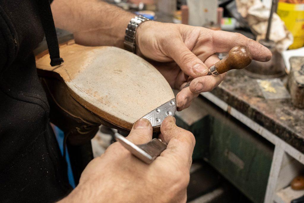 aligning toe taps on the viberg crust horsebutt 145 oxford