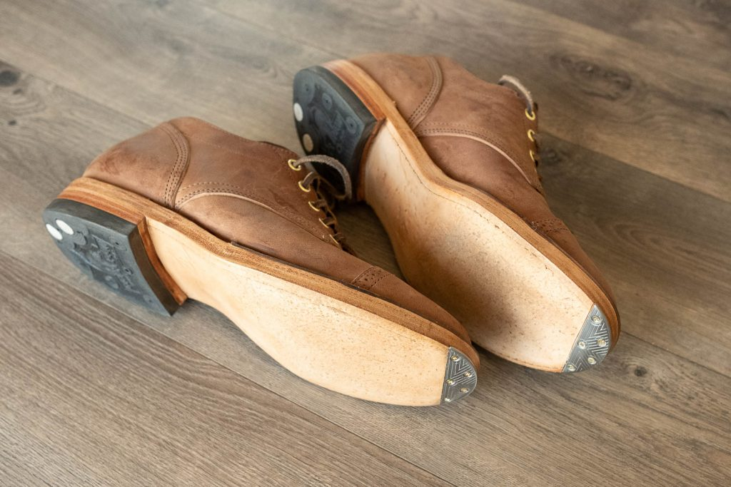 viberg for withered fig crust horsebutt 145 oxfords with lulu metal toe taps