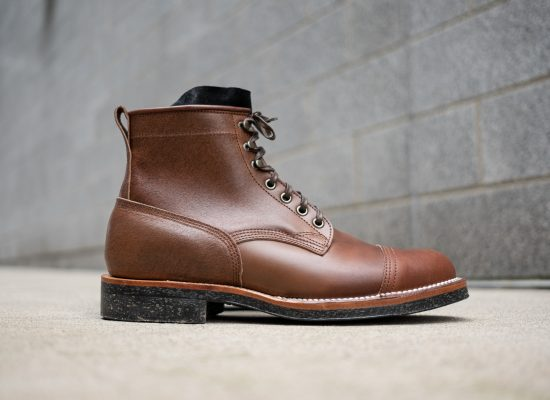 Viberg Brown Waxed Flesh Horsebutt Bobcat Boot