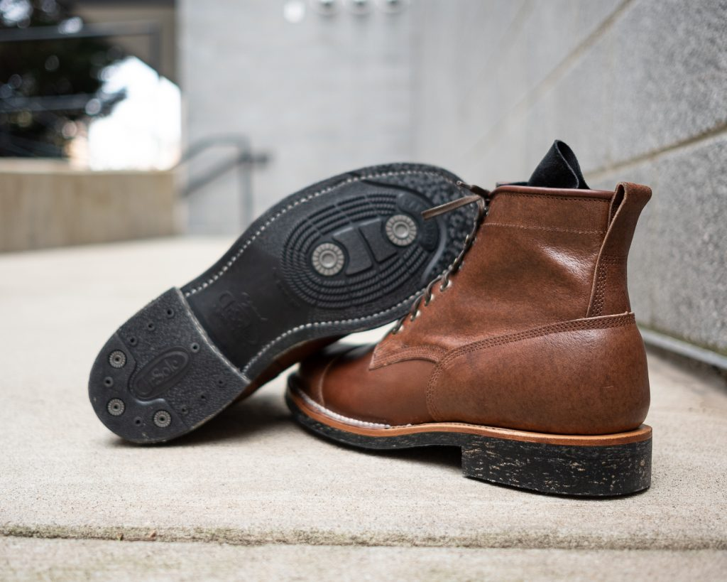 Viberg Bobcat Brown Waxed Flesh Horsebutt