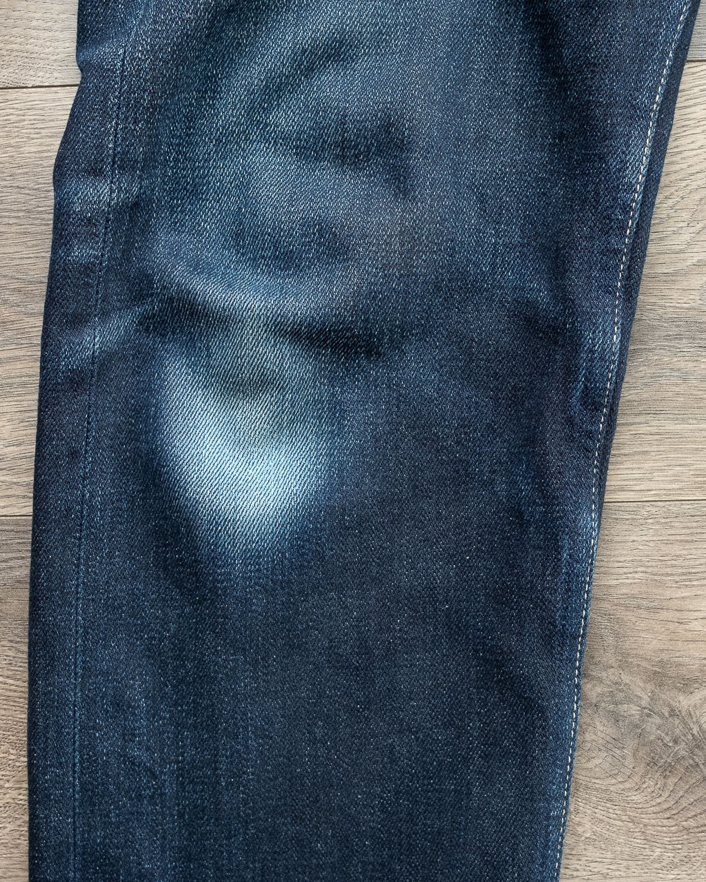 railcar denim x034 knee fades