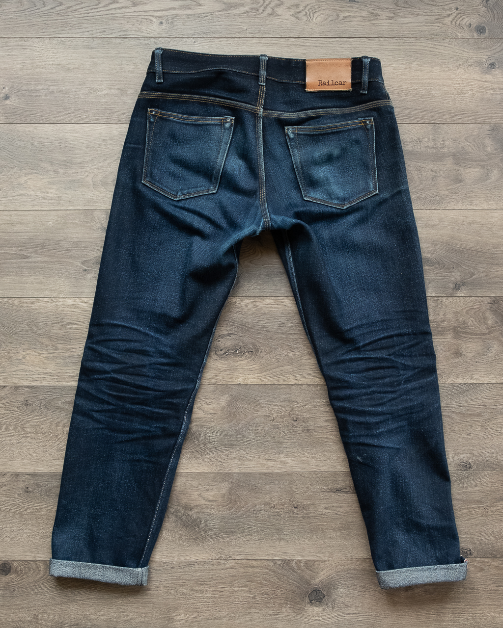 railcar x034 denim full back faded