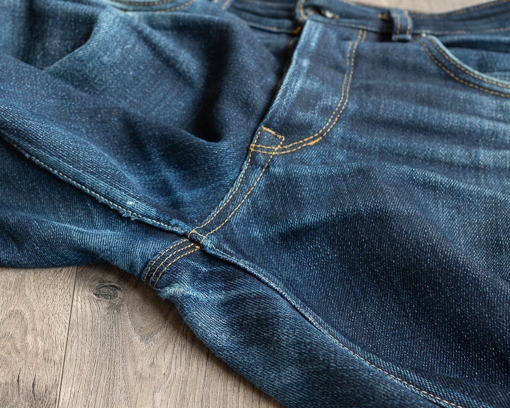 railcar fine goods x034 denim crotch fades