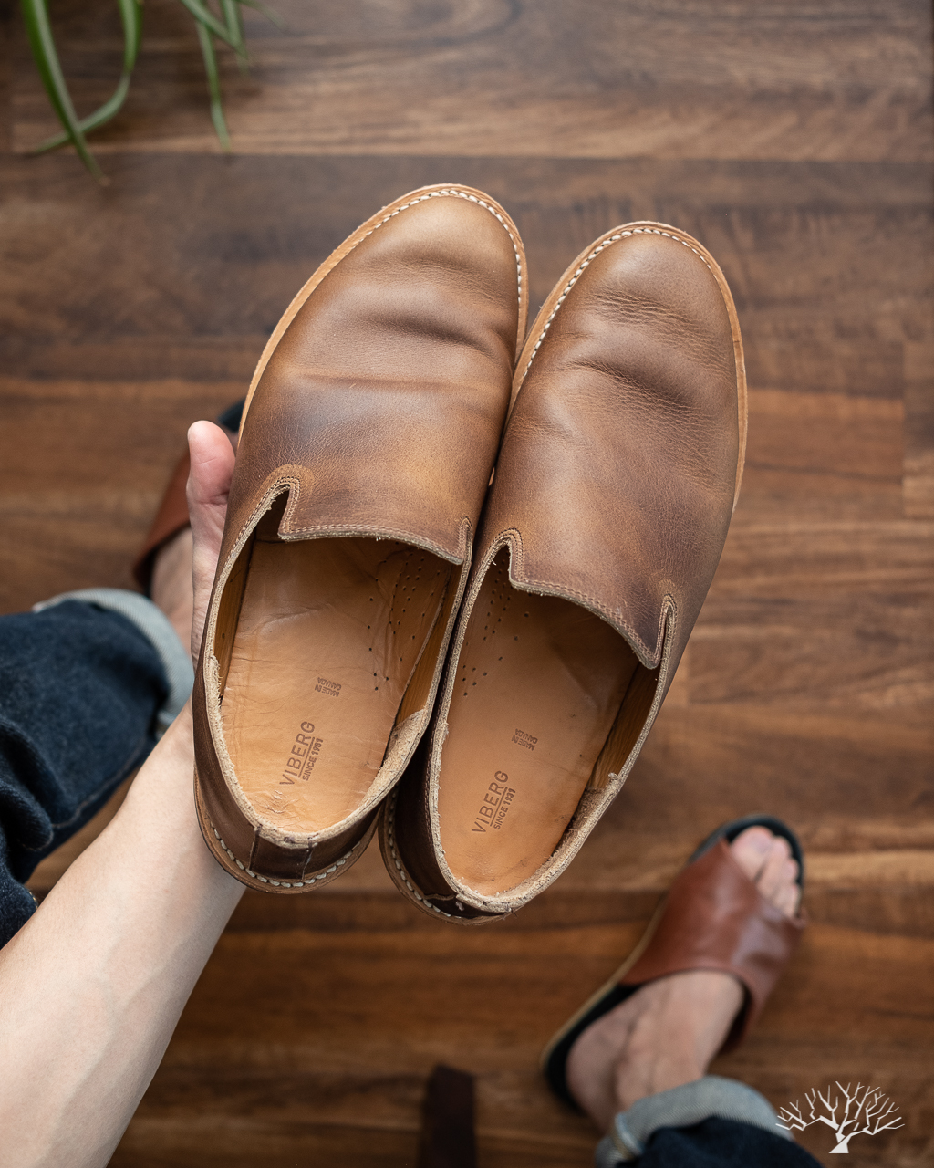 Viberg Camel Oiled Calf Slippers Worn 1 Month Review
