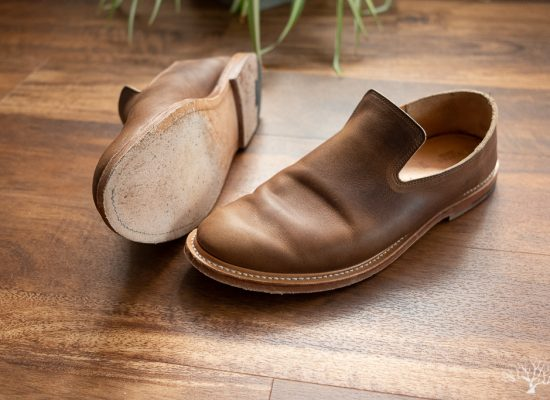 viberg slippers camel oiled calf with leather sole one month review