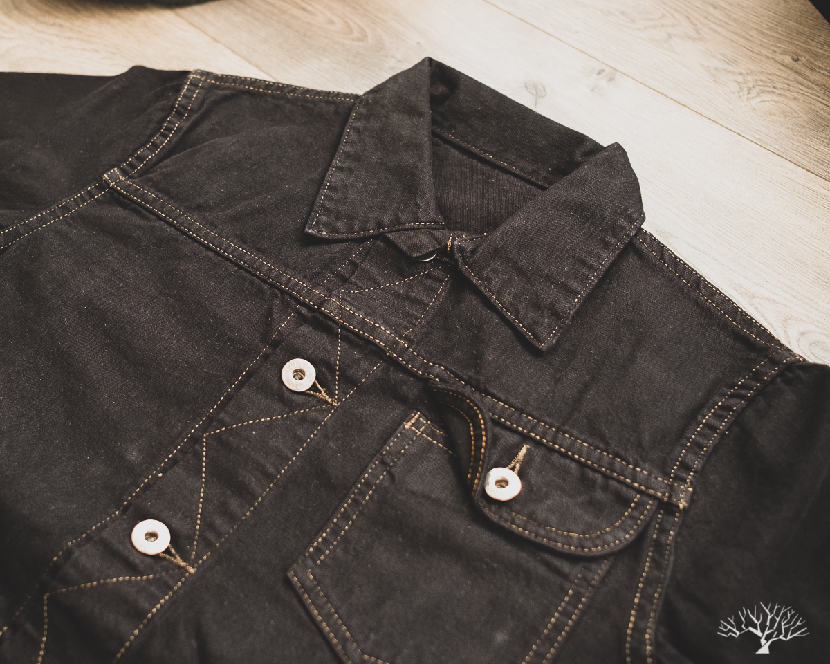 3sixteen Black Overdyed Indigo Nep Ranch Jacket for Withered Fig