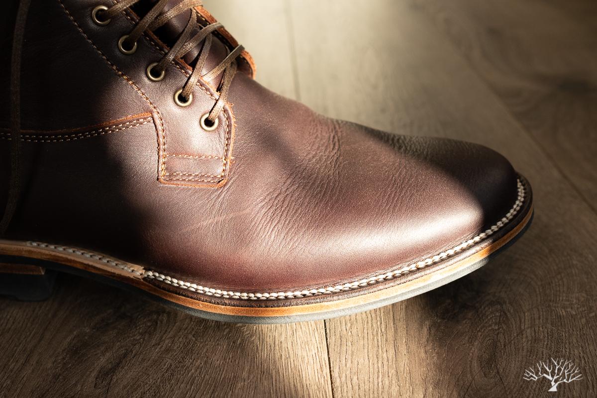 Viberg Mocha Light Oil Tan Country Boot Details