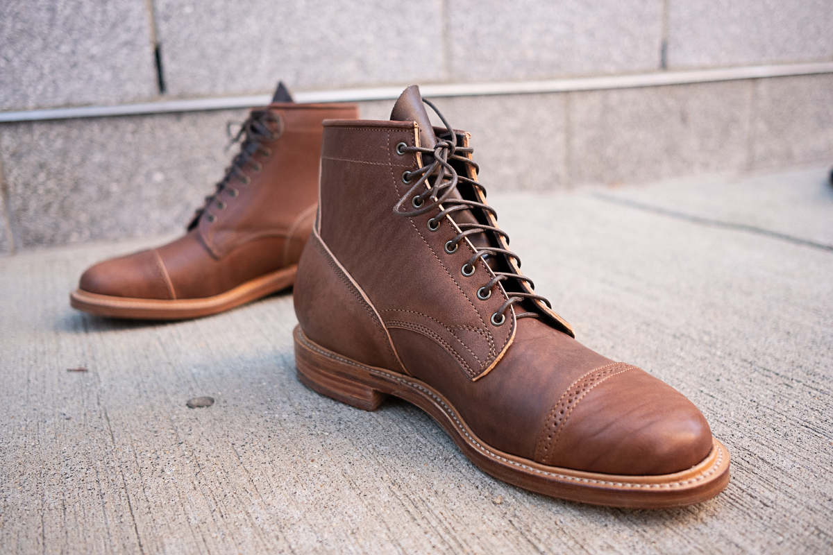 viberg maryam brown horsebutt bobcat boot