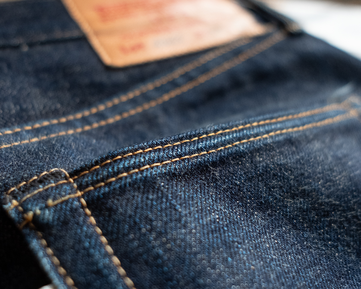 UES 400T Selvedge Denim Raised Pocket Hem