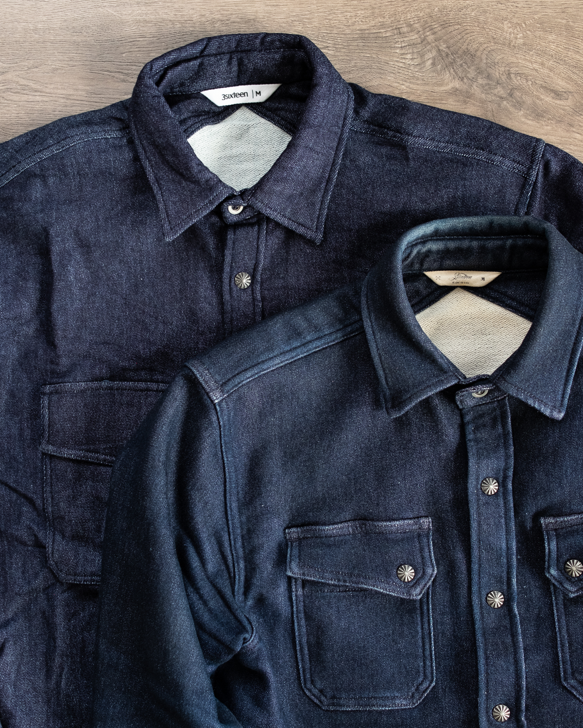 3sixteen Indigo Knit Crosscut Flannel