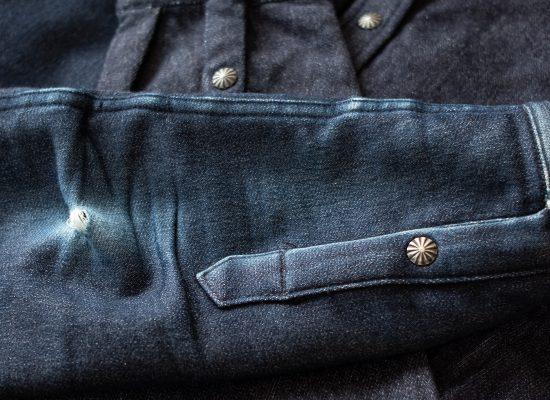 3sixteen Crosscut Flannel Indigo Knit