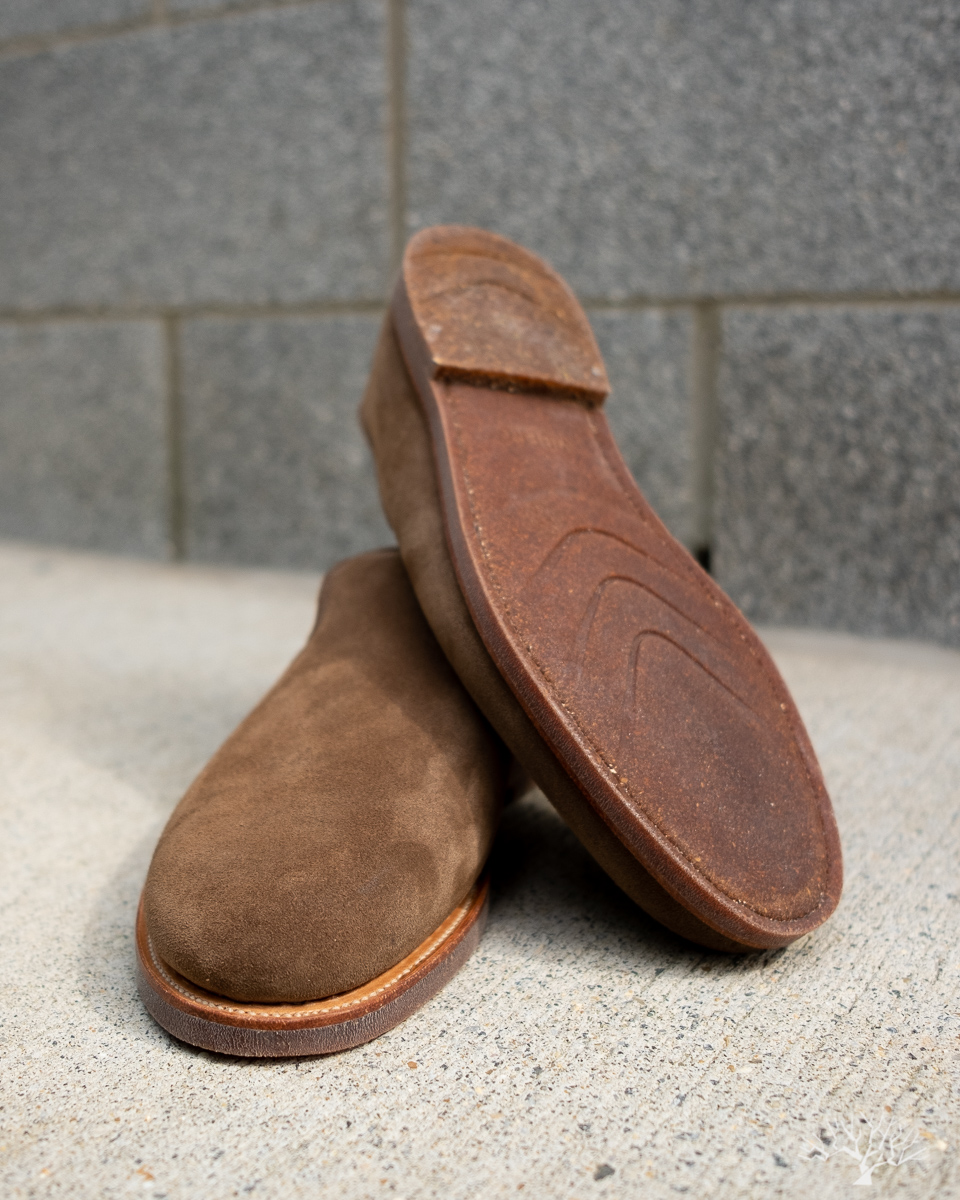 Viberg for Withered Fig Antelope Calf Suede Slipper
