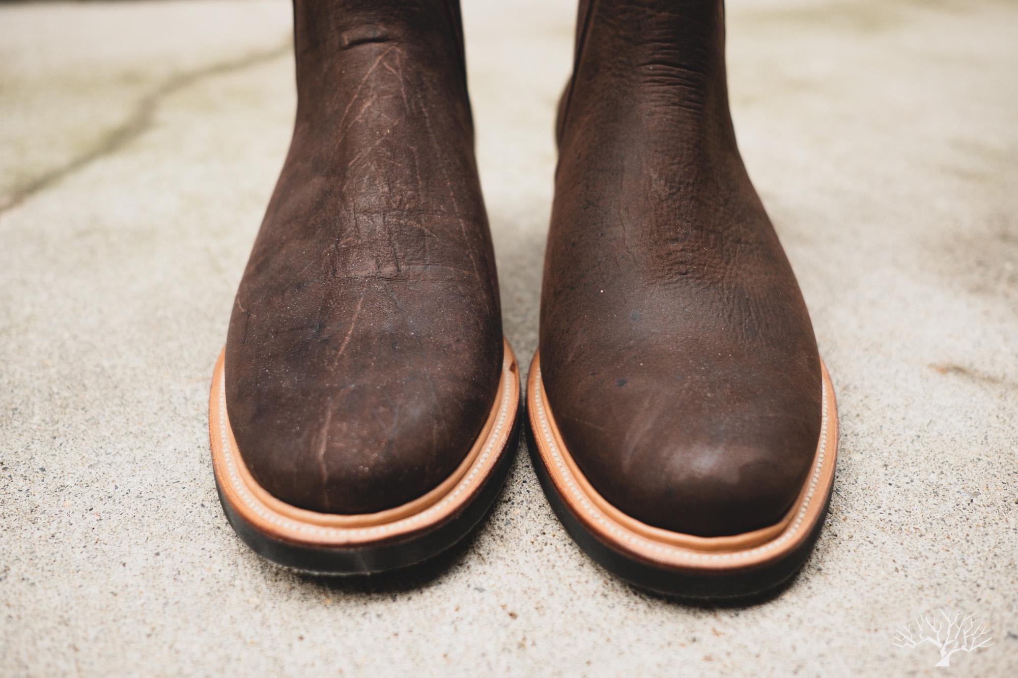 Viberg Chelsea Boot - Cigar Waxed Kudu