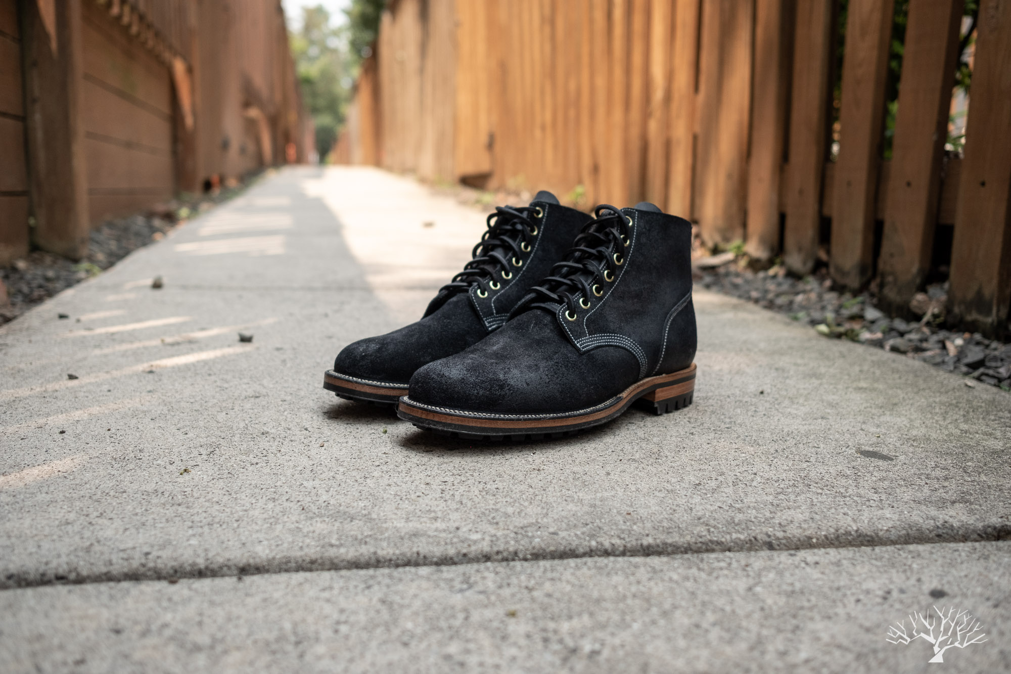 Viberg for Withered Fig Noontime Waterdown Boondocker Petrol Chamois Roughout